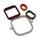Custom made colored square waterproof rubber grommet