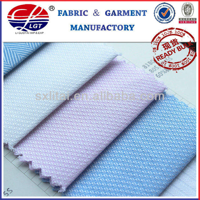 Woven Dobby Piece Dyeing CVC Fabric for Shirt /Uniform/Office Wear Fabric