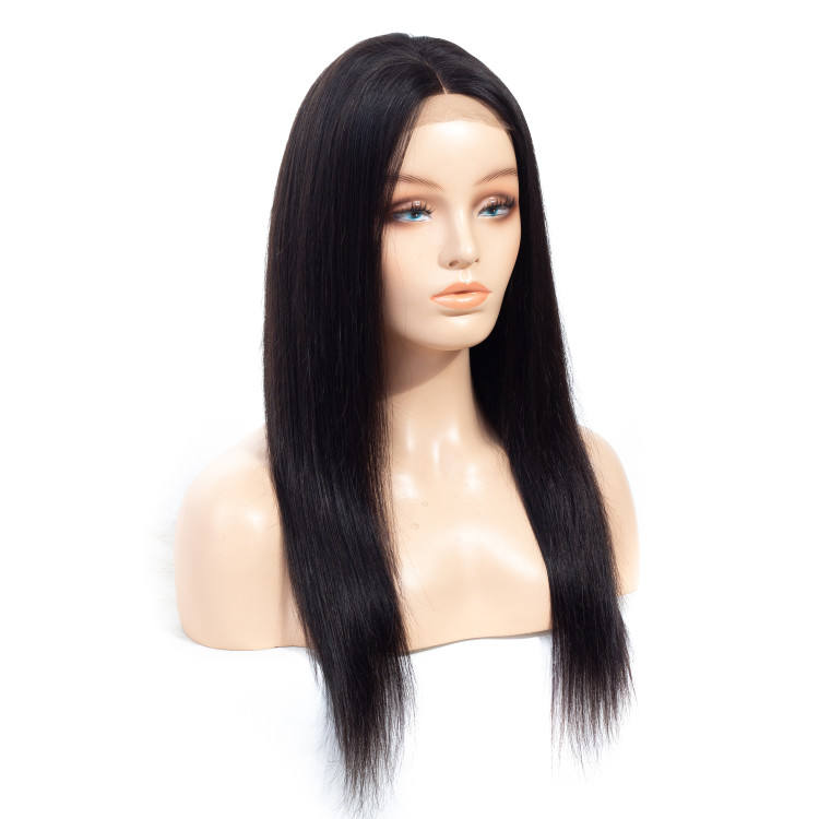 Human Virgin Hair 20inch 150% Density Kinky Straight 4*4 Lace Closure Wigs for Black Women/fortune fashion human hair wigs