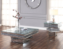 Unique Square Crushed Diamonds Coffee Table Side Table
