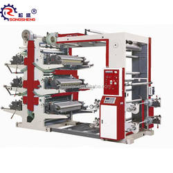 Six 6 colors colors flexo printing machine