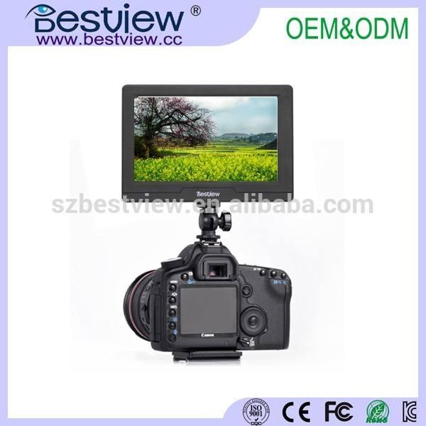 bestview venta al por mayor de la cámara con monitor hdmi av 5 pequeño pulgadas el monitor lcd