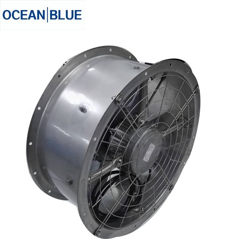 SS or Hot dip Galvanized Industrial Refrigeration Axial Air Flow Fan