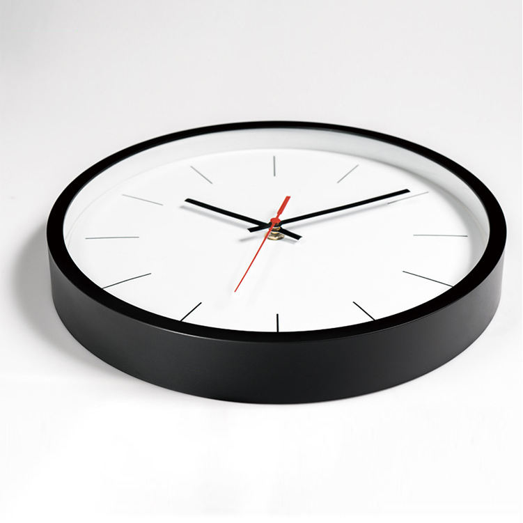 10 /12 inch round custom cheap plastic printed simple wall clock for promotion