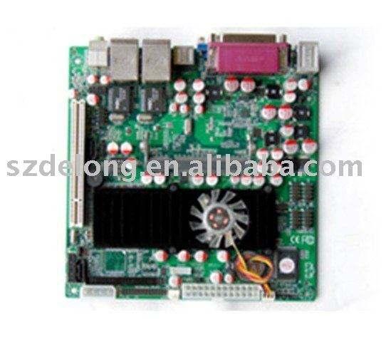 mainboard---Intel原子1.6GHz N270 2.5W fanless CPUのPC MAINBOARD