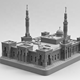 Customized 3D design service scale model making mosque 3d miniature building model a model house