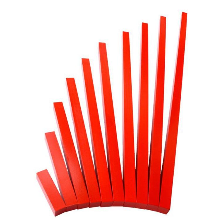 Amazon hot selling red long stick teaching tool creative educational sensory aids
