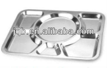 Stainless Steel Food Tray with mirror polishing