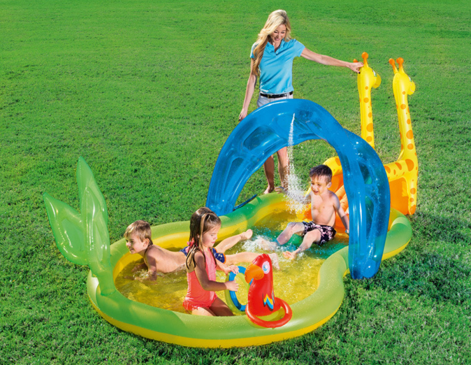 Factory wholesale Bestway 53060 thickening inflatable baby ball pool, children fishing swimming pool