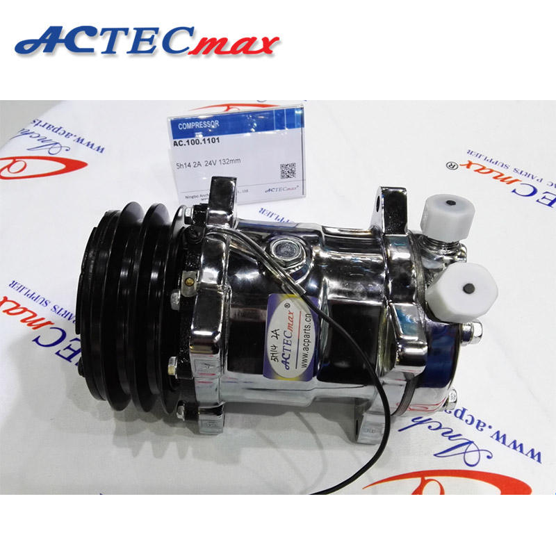 ACTECmax Universal A//C Compressor with Black 6PK Clutch Sanden 508 5H14 R134A