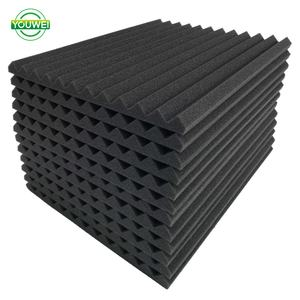12 PCS Acoustic Foam Soundproof กระเบื้องถ่าน Studio Wedge 1