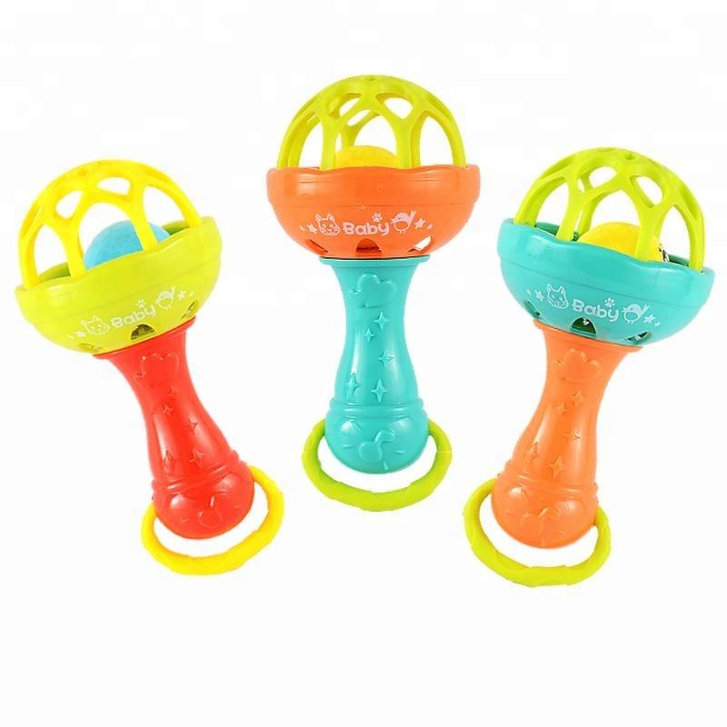 Educational Baby rattle toy silicone teether Toy
