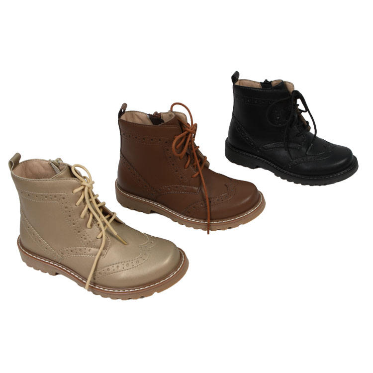 oem custom fashion kids girls cowboy leather winter boots shoes for children