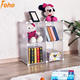 4 cubes transparent white modern corner bookcases can hold books and clothes (FH-AL0016)