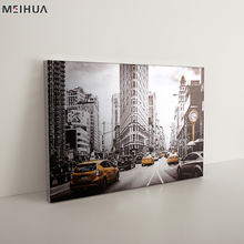 Best Seller Modern City Picture Wall Art gold Canvas Painting