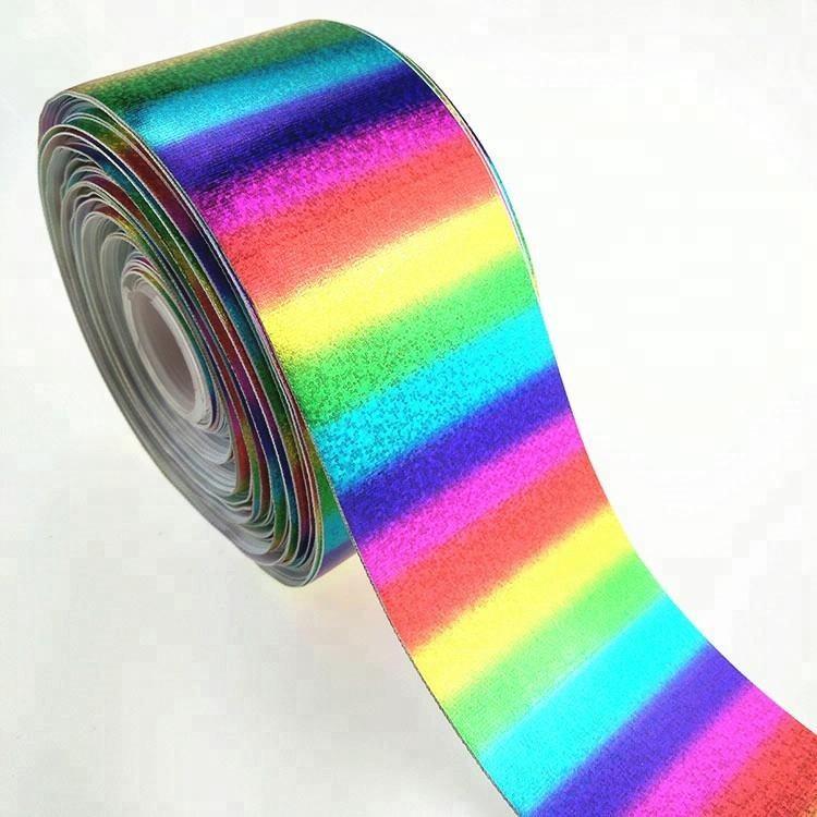 """Rainbows 3/"""" 2/"""" 1/"""" 75mm 50mm 25mm Cinta de Grogrén"""