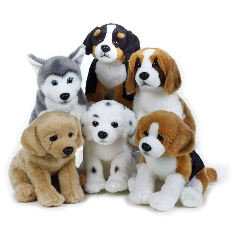 Custom sized design dog Labrador Jack russell Rottweiler and Dalmatian plush puppy assorted toys