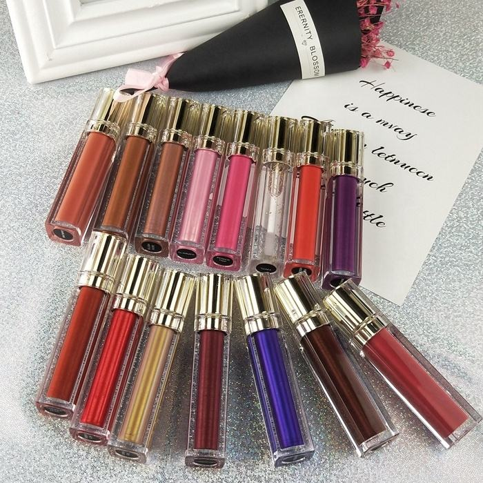 Wholesale High Quality Private Label Moisture Glitter Lipgloss Make Your Own Make Up Clear Lip Gloss