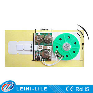 Sound ic chip for electronic greeting card