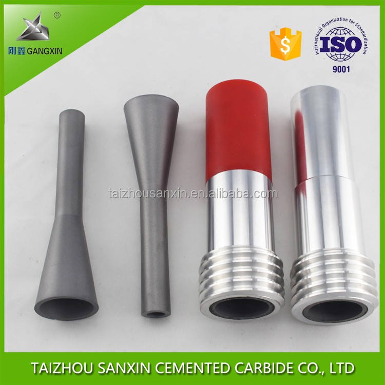GANGXIN brand tungsten carbide sand blasting nozzle for cleaning equipment