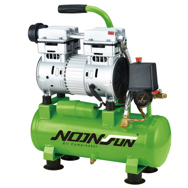 0.75KW/1.0HP 10L 60L/Min Oil-Free Direct Driven Piston Smart AC Industrial Air Compressor No Oil Lubricated Mini Air Pump