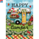 Best Quality Happy camping Garden Flag