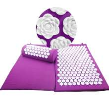 factory direct sale lotus spike relax massager mat with pillow