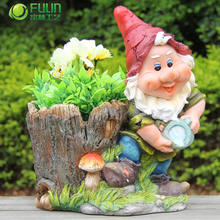 decoration funny gnome balcony railing flower pots and planters garden