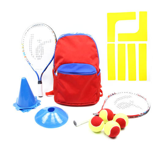 High quality Kid's tennis starter kits training equipment includes tennis bag,2 junior tennis racket , balls and traning cores