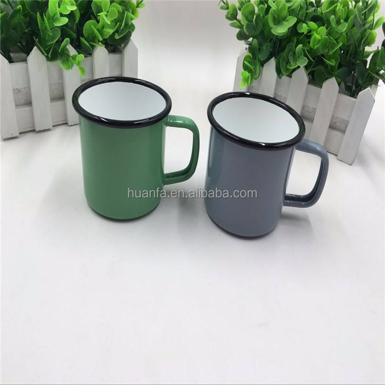 promotional camping products for 2016 high quality carbon iron enamel coffee mug cup