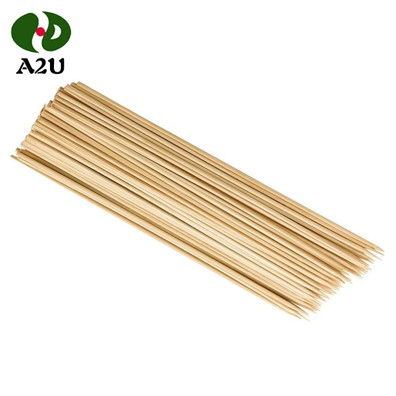 Manufacturer Wholesale Natural Round Disposable Bamboo BBQ Skewers