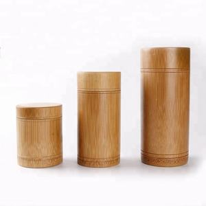 (High) 저 (Quality All Natural Bamboo 차 Canister Eco-friend 차 상자 Accept Customized