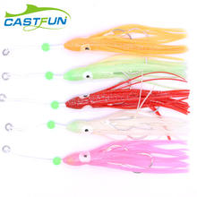 Wholesale Saltwater 19cm Rubber Skirts Octopus Squid Skirted Jig  Fishing Lures With Hook
