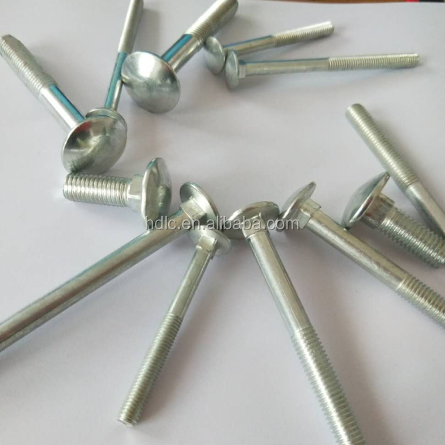 DIN603 carriage bolt M10x30 zinc plated fastener