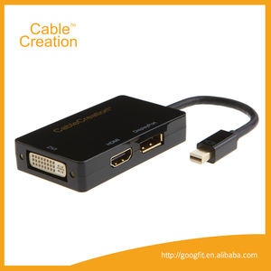 3-IN-1Multifunction 미니 DisplayPort 남성 hdmi DVI DisplayPort 여성 어댑터 케이블