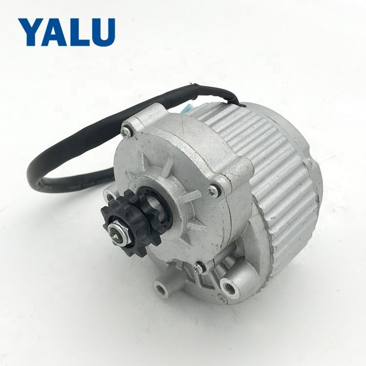 YALUMOTOR MY1018 450W 24V TTMS Motorization System Forklift Brush Gear DC Motor with Double Sprocket
