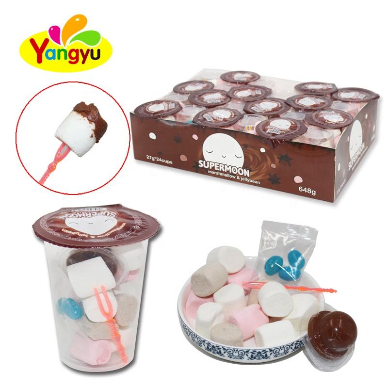 Mix Marshmallow Cup Sweet Marshmallow with Choco Jam And Jelly Bean