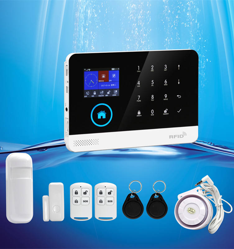 Shenzhen Herstellung HAK home security alarm gms wifi GSM/3G Home Alarm System