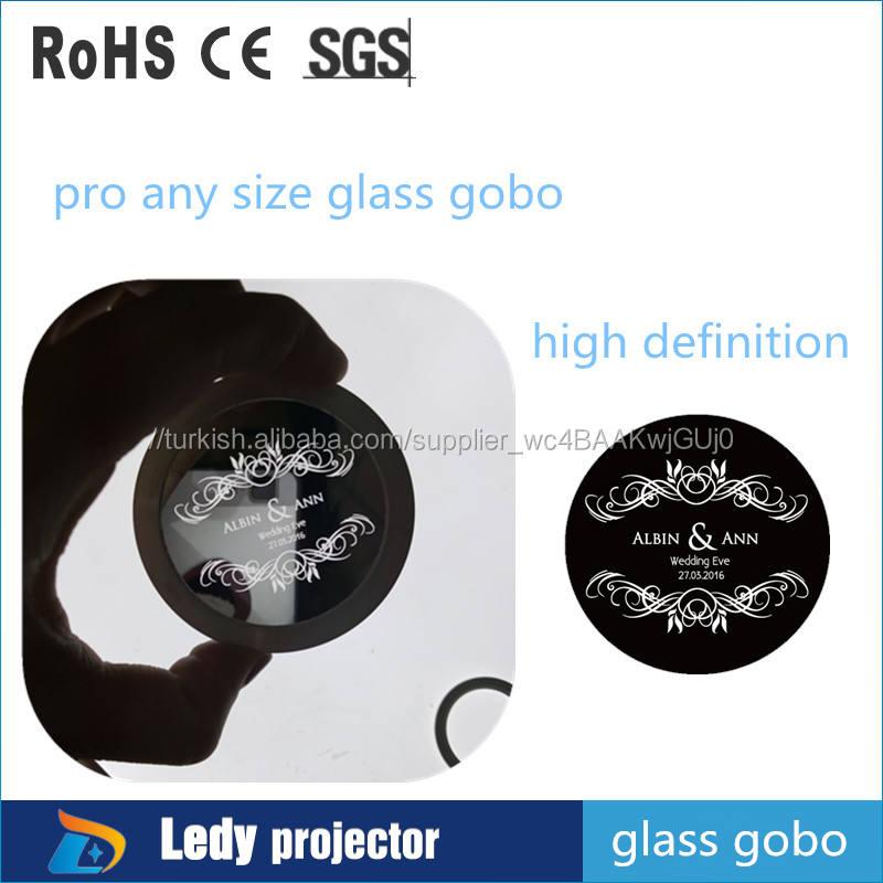 Yüksek çözünürlüklü cam gobo slayt projektör disk için <span class=keywords><strong>özel</strong></span> tasarım