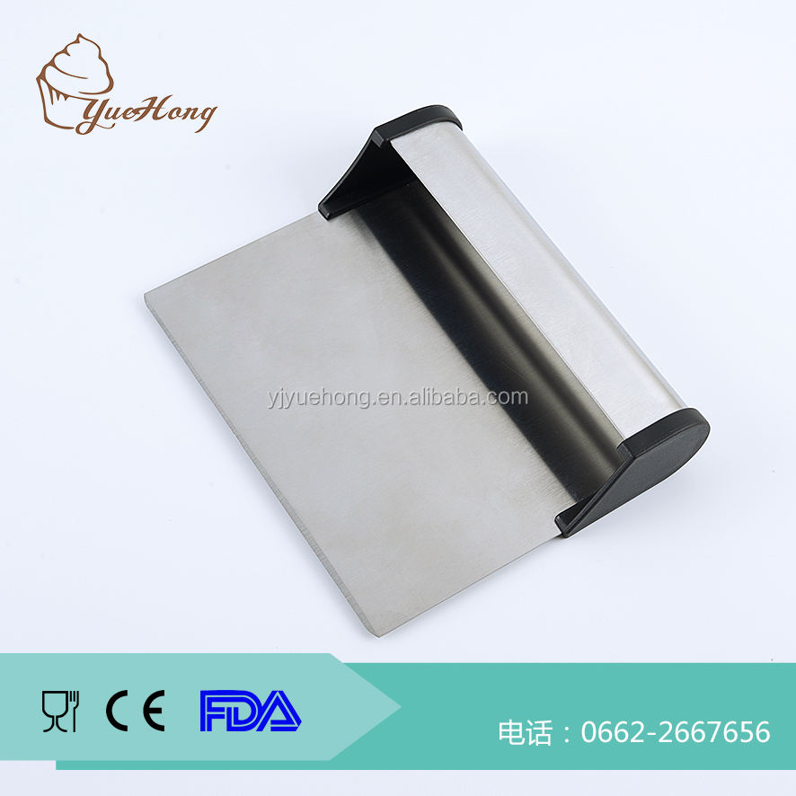 Stainless Steel Pastry Bench Scraper with Scoop / Cake Lifter & Dough Cutter