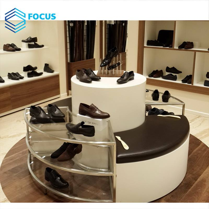 Display Furniture [ Design Shoes Store ] Shoe Store Design Modern Design Round Display Cabinet Shoes Store Display Furniture For Retail Brand Store