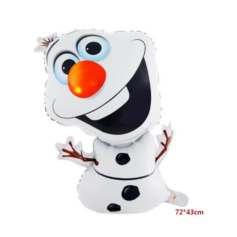 Hot-selling heterosexual Snowman-shaped cartoon character balloon toys for baby shower at children's parties