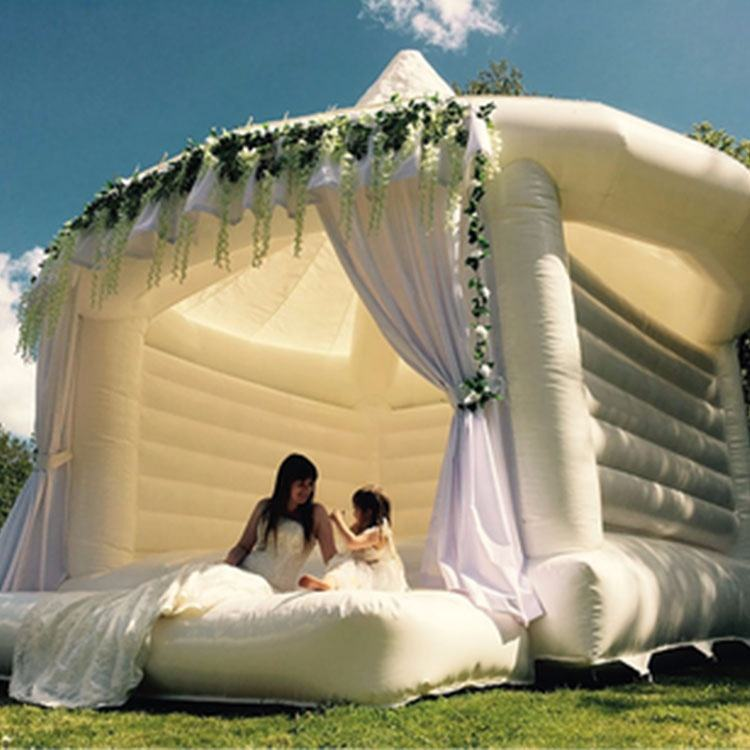 Commercial New White Bouncy Castle Inflatable White Jumping Castle Adult Bounce Bouncy Castles House For Wedding Party
