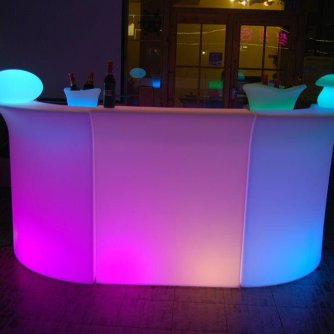 Illuminated LED Bar Table Furniture