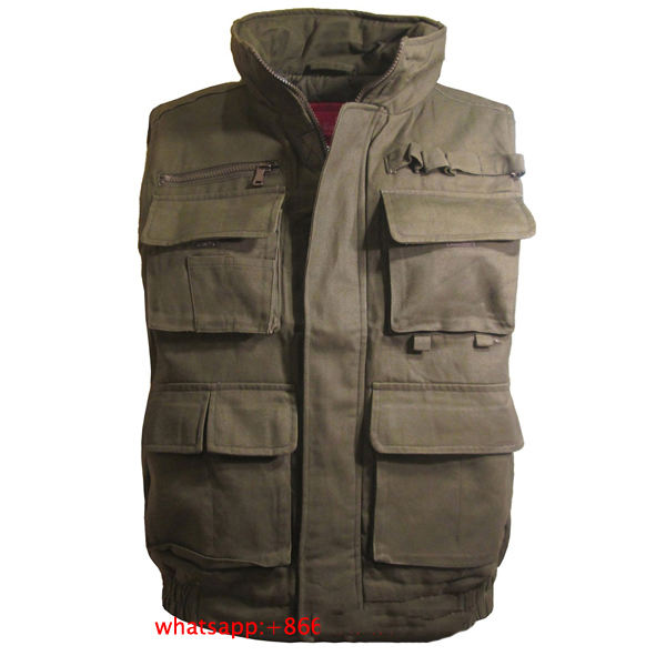 Men's Outdoor Sports Military Hunting Work Multi Pockets working tool Vest
