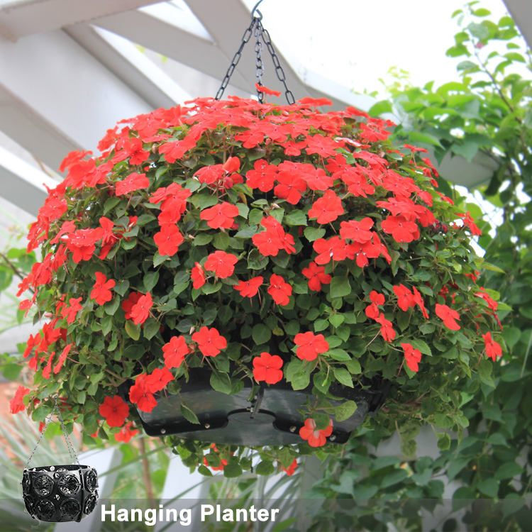 SOL new large decorative flower ball easy fill hanging baskets hanging basket