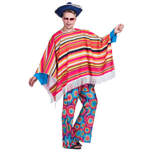 carnival party fancy dress adult man mexico cape costume for men mexico cloak
