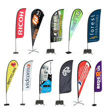 2019 New Arrivals Product Custom Advertising Fabric Feather Rectangle Teardrop Beach Flag Banner For Wholesale