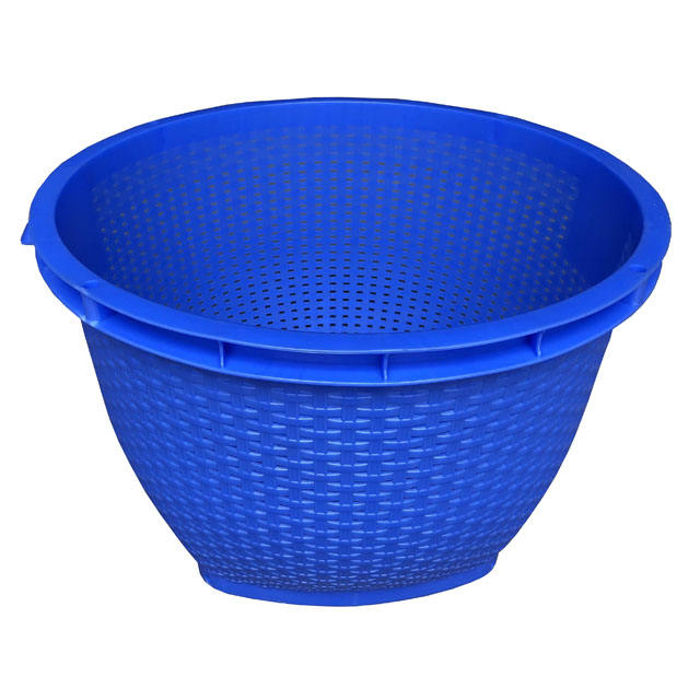 HDPE/PP material nestable round plastic basket for agriculture vegetable and fruit
