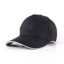 black baseball cap 5 panel cotton sport hats for promotion